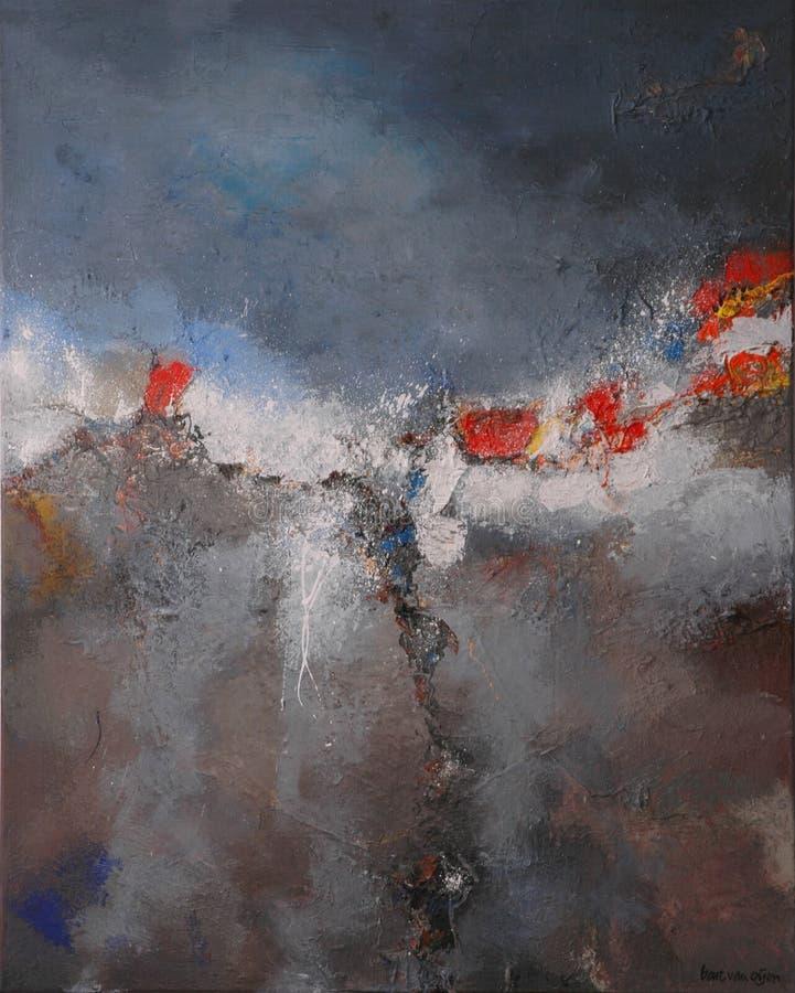Het abstracte schilderen door de bestelwagen van de Baronet royalty-vrije stock fotografie
