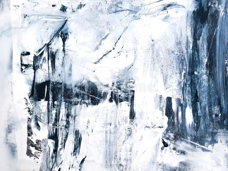 Het abstracte Schilderen op Canvas Modern art stock illustratie
