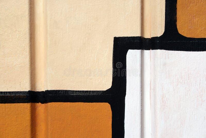 Het Abstracte Schilderen Op Een Muur Gratis Stock Afbeelding