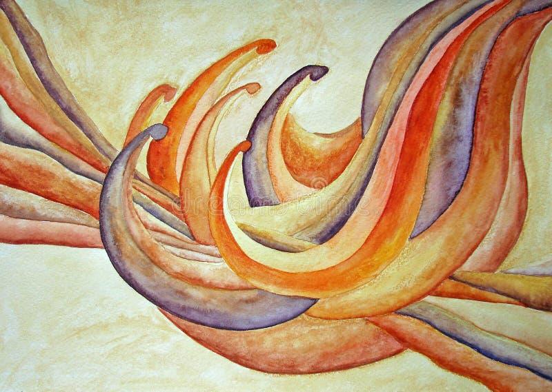 Het abstracte schilderen van de bloem royalty-vrije illustratie