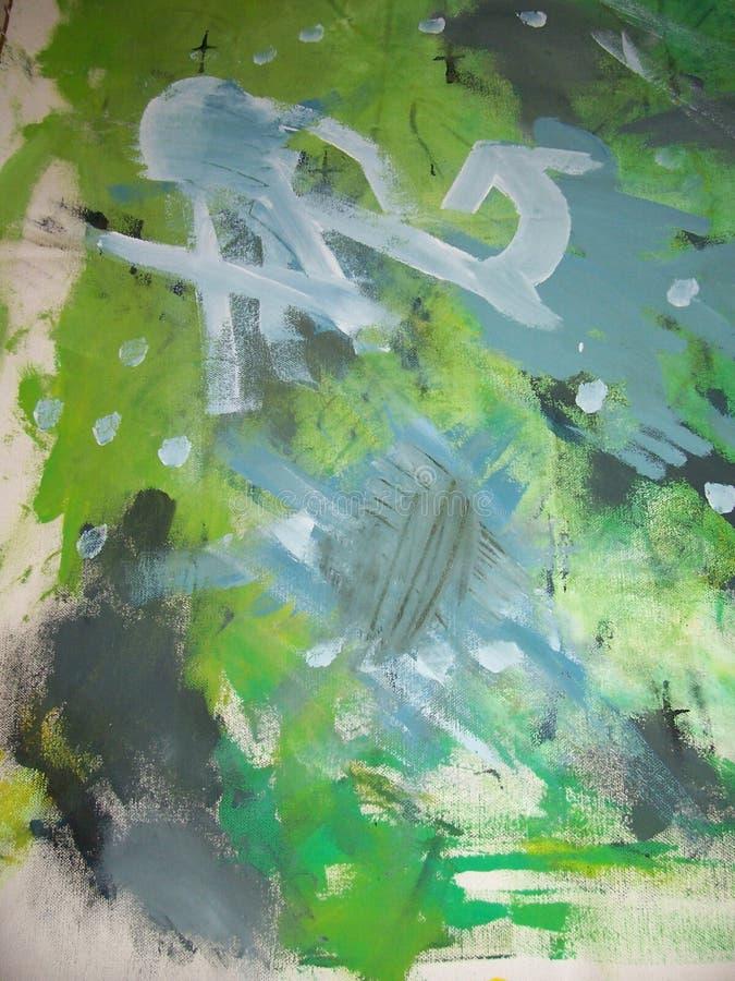 Het abstracte Schilderen Zonder titel stock afbeelding