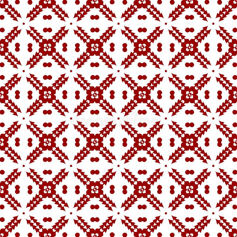 Het abstracte Sier Oosterse Rode Koninklijke Uitstekende Arabische Chinese Mooie Bloemen Geometrische Naadloze Behang van de Patr stock illustratie