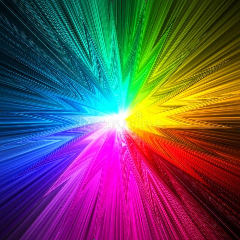 Het abstracte sterprisma kleurt achtergrond stock illustratie