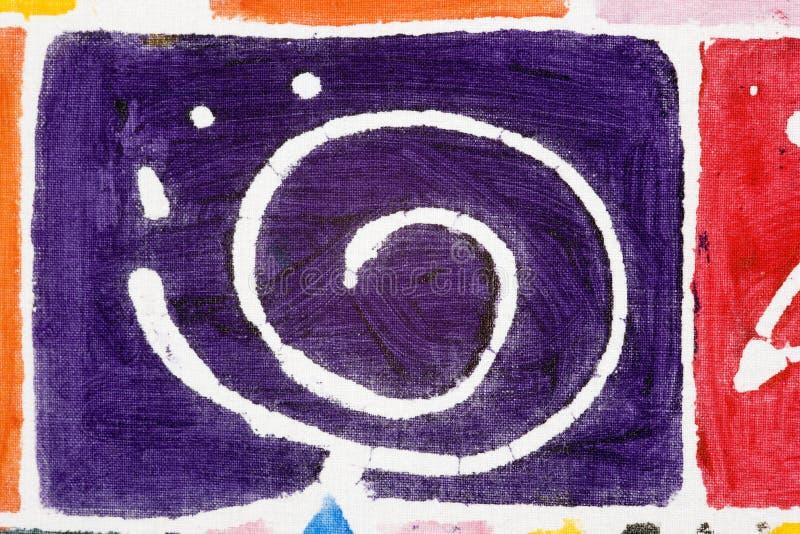 Het abstracte stof schilderen stock fotografie