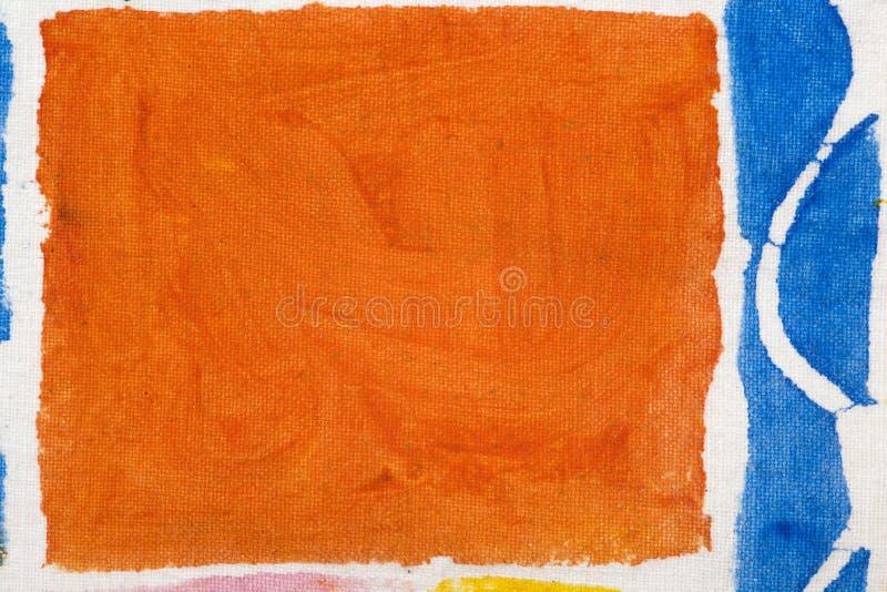 Het abstracte stof schilderen royalty-vrije stock afbeelding