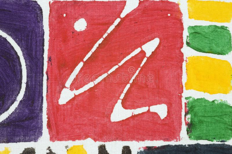 Het abstracte stof schilderen stock afbeelding
