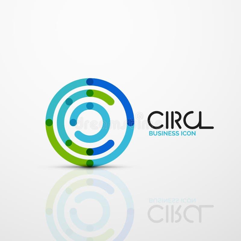 Het abstracte symbool van wervelingslijnen, het pictogram van het cirkelembleem royalty-vrije illustratie
