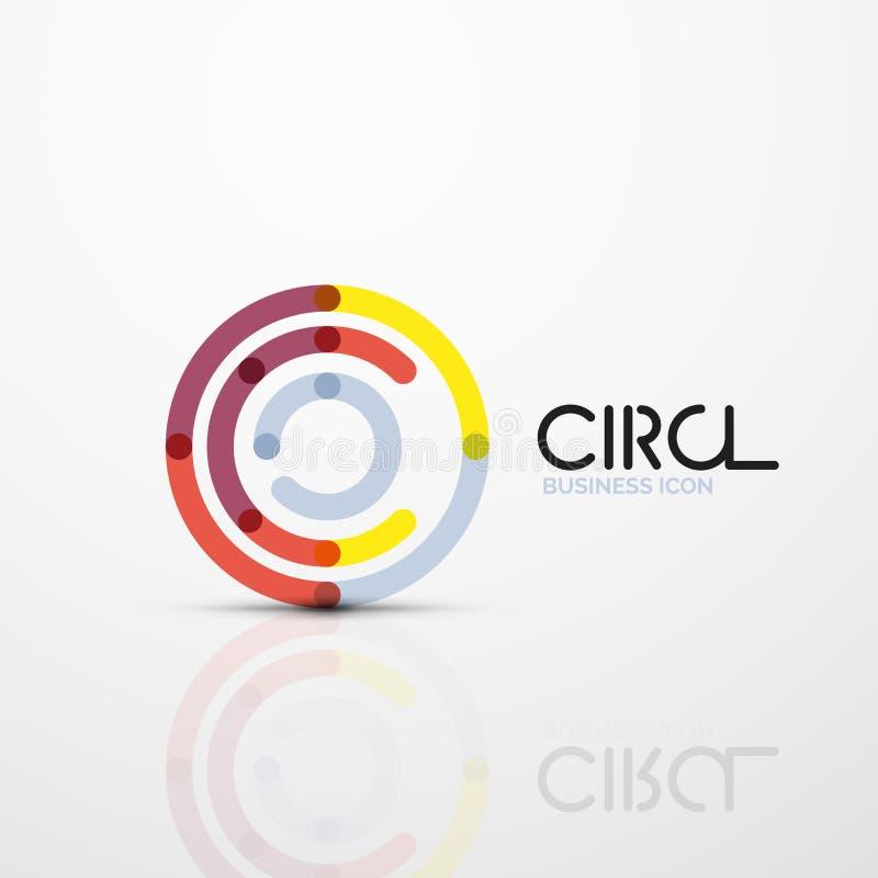 Het abstracte symbool van wervelingslijnen, het pictogram van het cirkelembleem vector illustratie