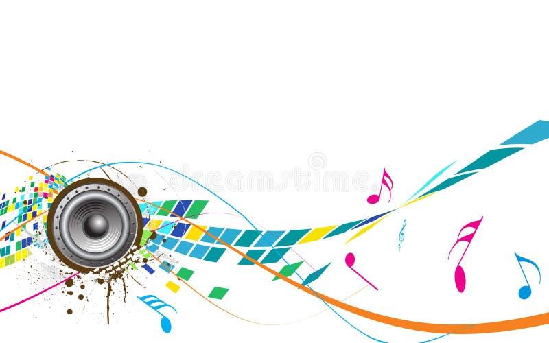Het abstracte thema van de Muziek vector illustratie