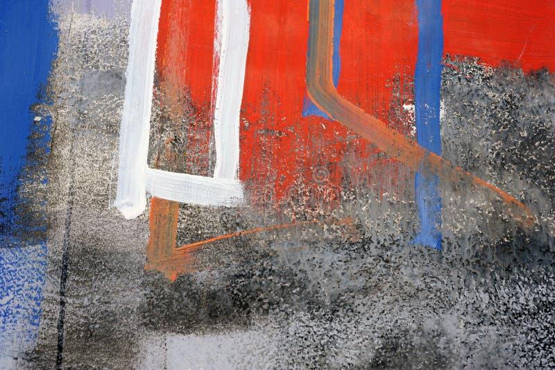 Het abstracte trekken op de muur, straatart. royalty-vrije stock foto's