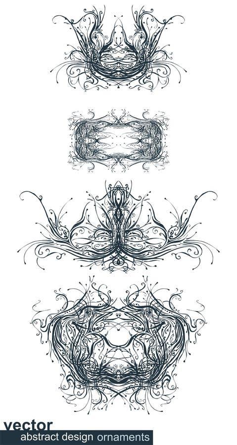 Het abstracte uitstekende ontwerp elemen vector illustratie