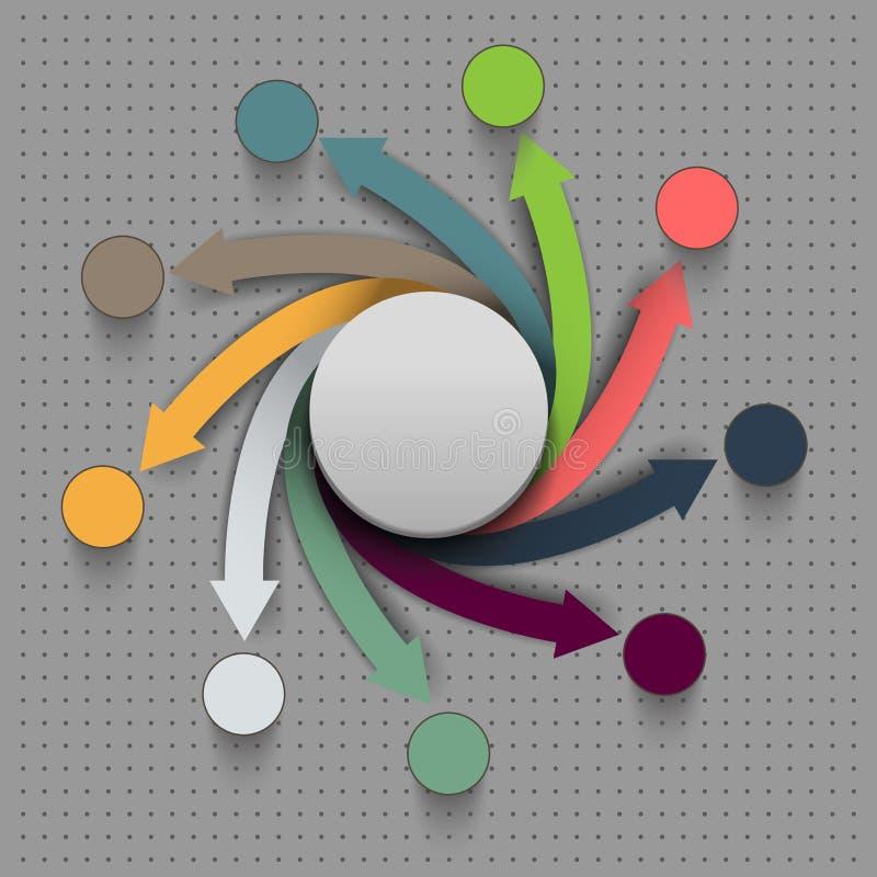 Het abstracte vector infographic diagram van vierkantengegevens royalty-vrije illustratie