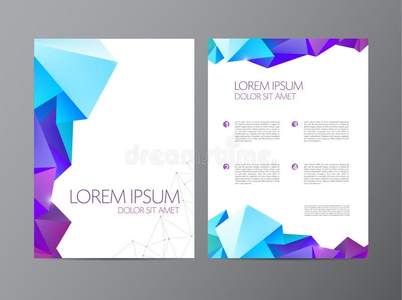 Het abstracte vector moderne ontwerp van de vliegerbrochure royalty-vrije illustratie