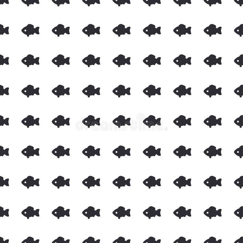 Het abstracte vector naadloze geometrische silhouet van patroon symbolische vereenvoudigde vissen Vereenvoudigd lijnornament Acht vector illustratie