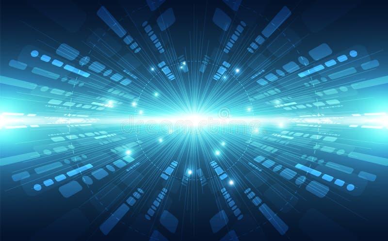 Het abstracte vector super concept van de hoge snelheids digitale technologie Vectorillustratie als achtergrond stock illustratie