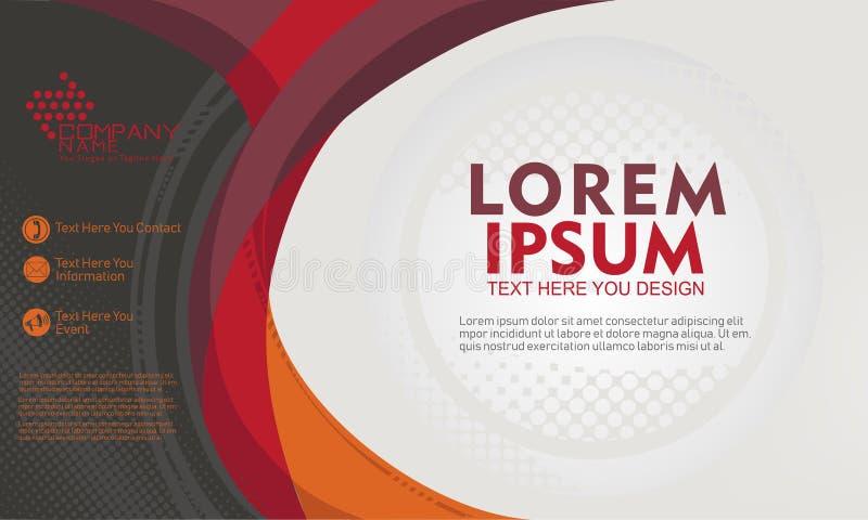 Het abstracte vectormalplaatje als achtergrond voor brochure, banner, website, flayer ontwerpt royalty-vrije illustratie