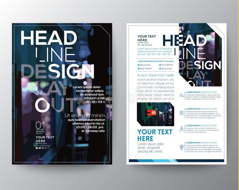 Het abstracte Vectormalplaatje van de het ontwerplay-out van de Brochurevlieger stock illustratie