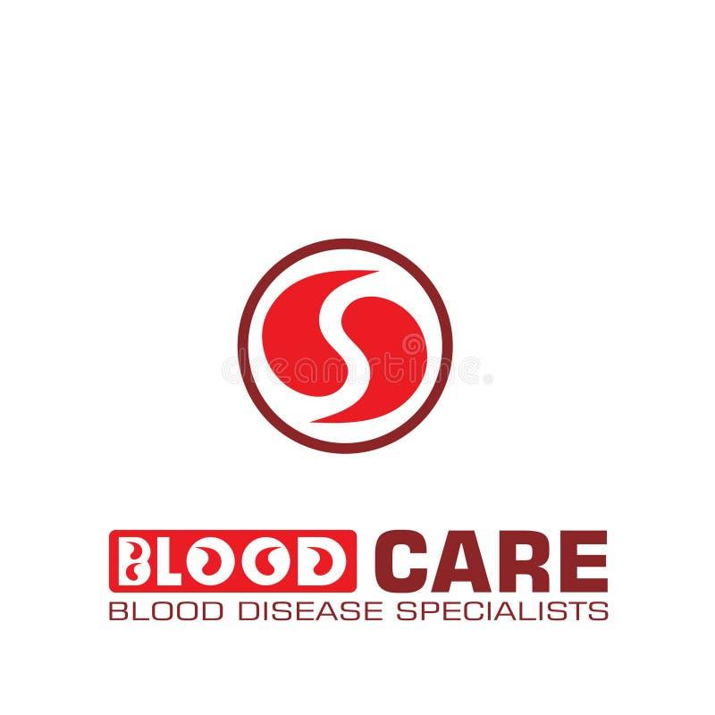 Het abstracte vectorontwerp van het bloedembleem stock illustratie