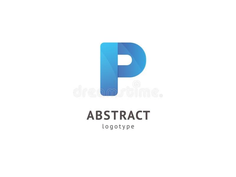 Het abstracte vectorontwerp van het vetorembleem Teken voor zaken, Internet-communicatie bedrijf, digitaal agentschap, marketing  stock illustratie