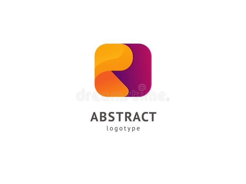 Het abstracte vectorontwerp van het vetorembleem Teken voor zaken, Internet-communicatie bedrijf, digitaal agentschap, marketing  royalty-vrije illustratie