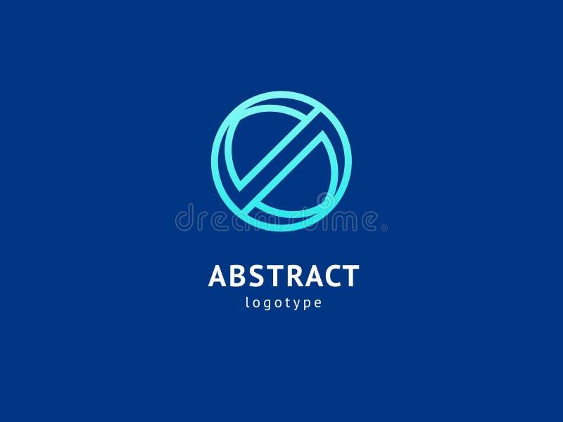 Het abstracte vectorontwerp van het vetorembleem Teken voor zaken, Internet-communicatie bedrijf, digitaal agentschap, marketing  vector illustratie