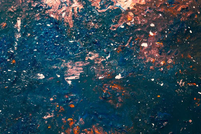 Het abstracte verf achtergrondkleurenvlekken ploeteren royalty-vrije illustratie