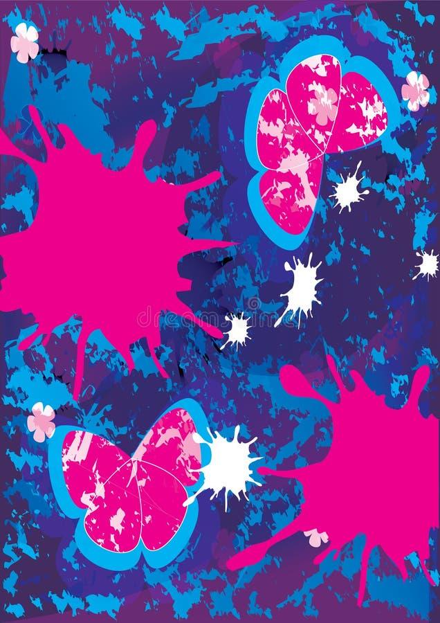 Het abstracte Vuile Schilderen vector illustratie
