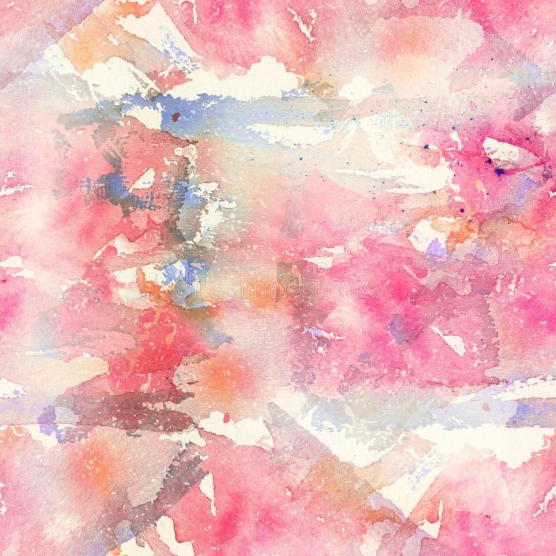 Het abstracte waterverf naadloze patroon met ploetert vlekken, dalingen en plonsen vector illustratie