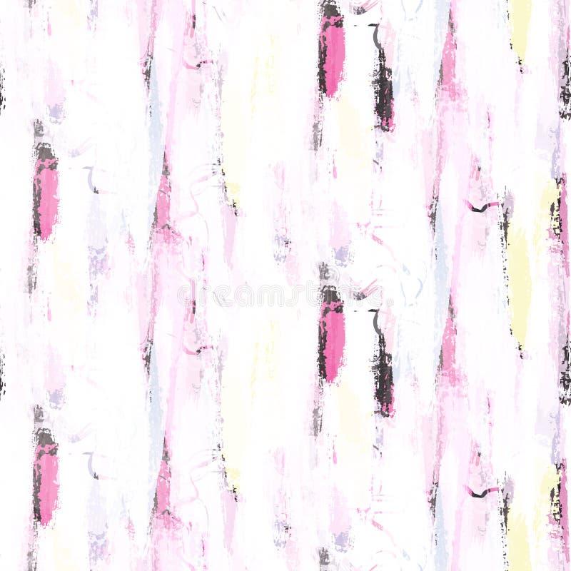 Het abstracte zachte naadloze patroon van pastelkleurpenseelstreken royalty-vrije illustratie