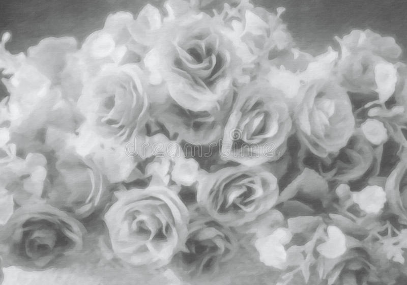 Het abstracte zachte stijlzilver nam bloem toe stock afbeeldingen