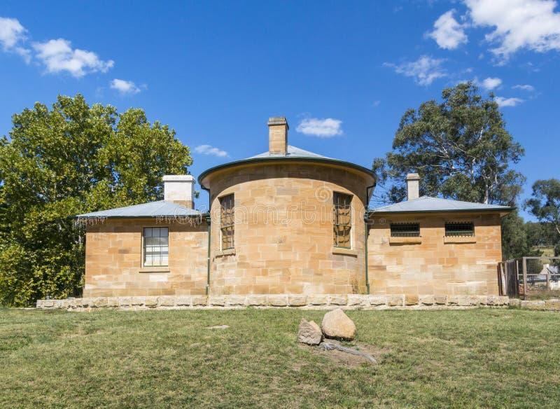Het Achtergedeelte van Hartley Courthouse, NSW, Austtralia royalty-vrije stock fotografie