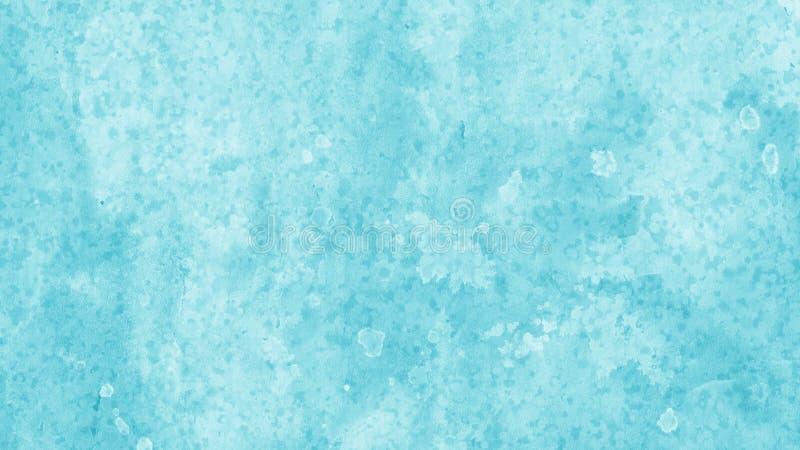 Het achtergrondontwerp in wit en blauw met gevlekte waterverfwas en het rand aftapontwerp van verf bespatten druppels en dalingen royalty-vrije stock foto's