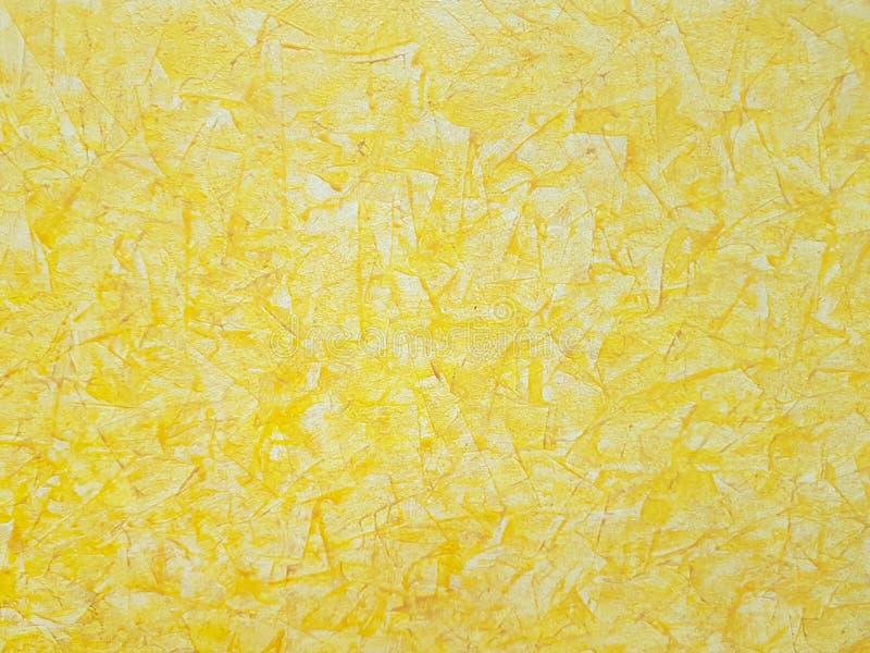 Het achtergrondpatroon gele schilderen kunst, grafische stof, stock afbeelding