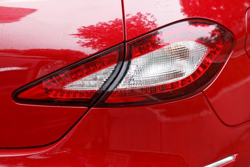 Het achterlicht van de auto stock foto