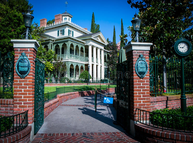 Het Achtervolgde Herenhuis - Disneyland stock fotografie