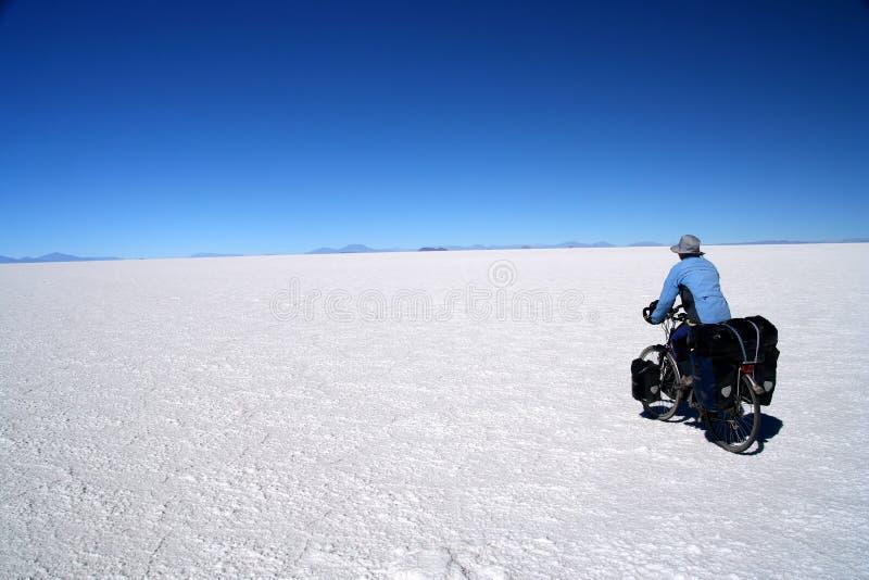 Het achtervolgen van de horizon stock foto