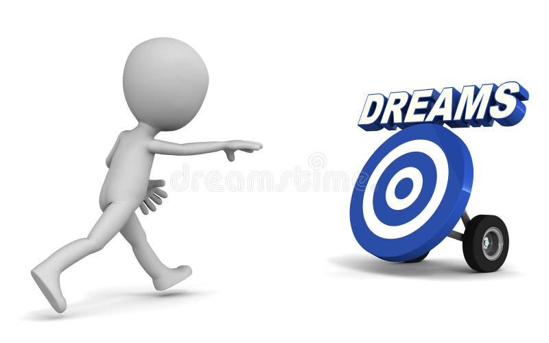 Het achtervolgen van dromen stock illustratie