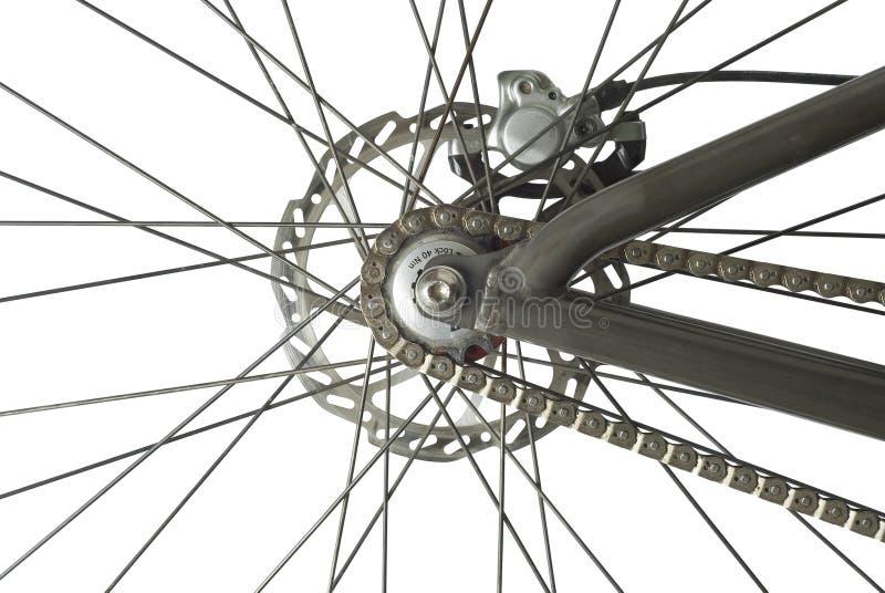 Het AchterWiel van de fiets stock afbeeldingen