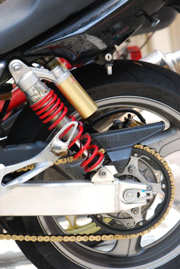 Het AchterWiel van de motorfiets stock afbeelding