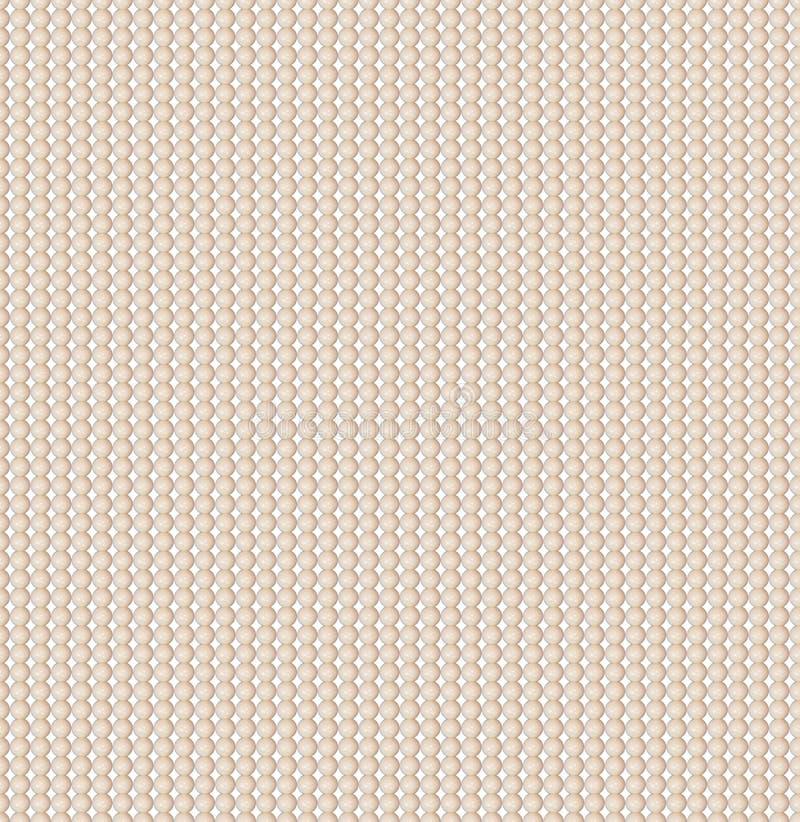 Het acrylbeige parelt naadloos patroon Comité van parels Parels, een halsband van amber tegen een buik van een overzeese kom Uits stock fotografie