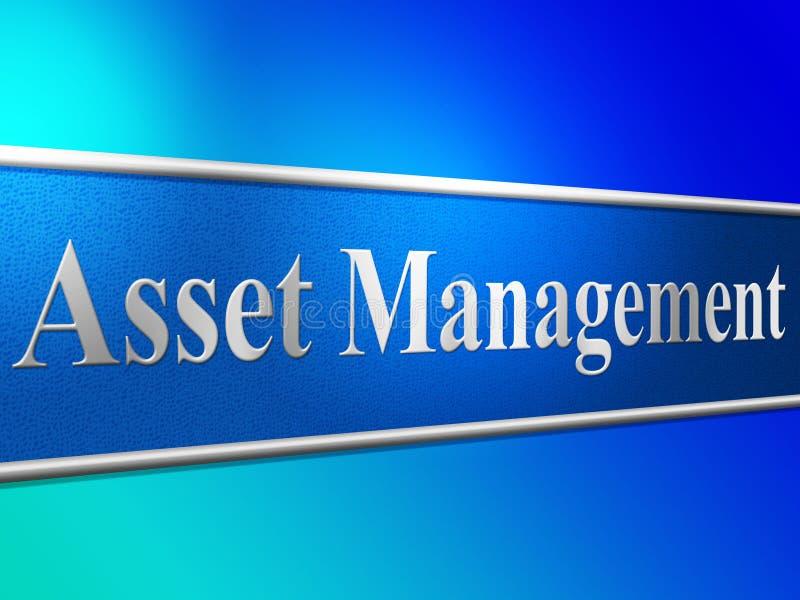 Het activabeheer betekent Commercieel Activa en Beleid vector illustratie