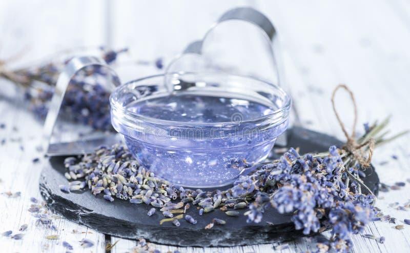 Het Additief van het lavendelbad stock foto