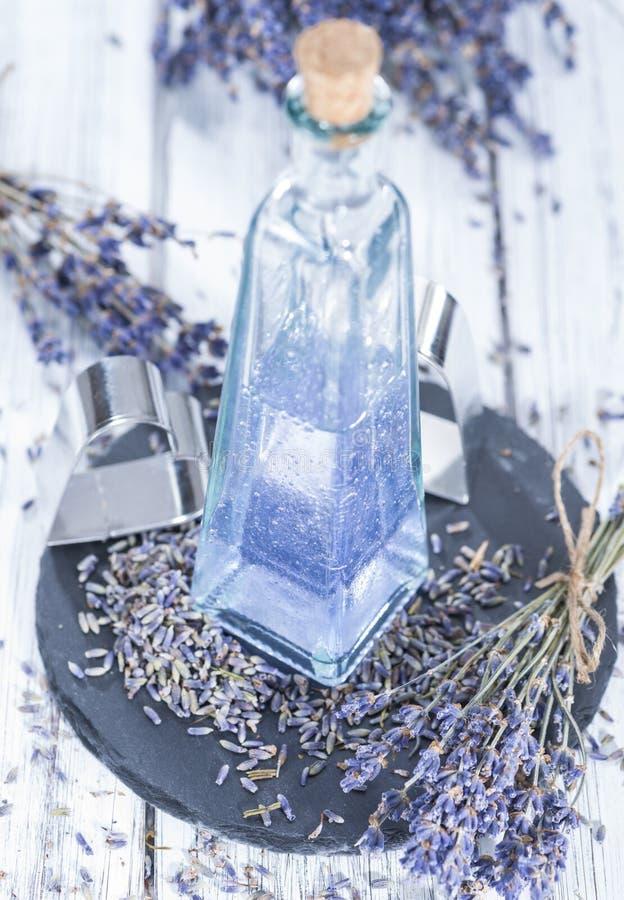 Het Additief van het lavendelbad royalty-vrije stock afbeeldingen