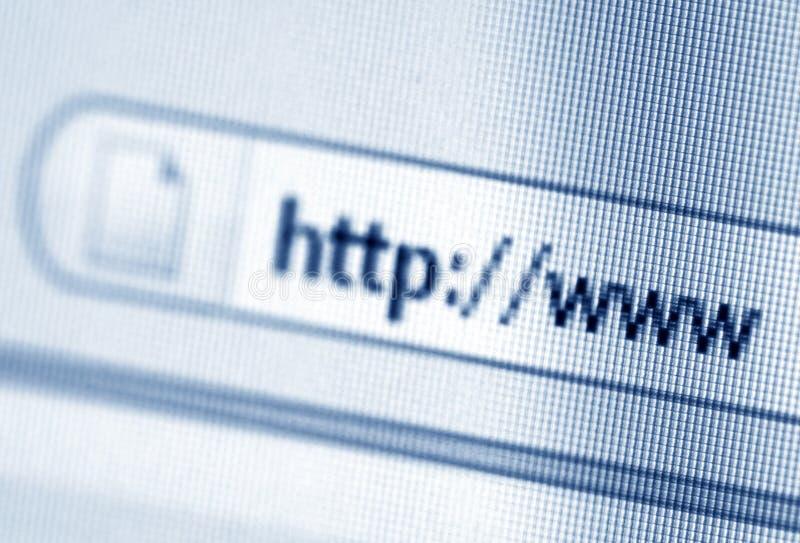 Het adres van Internet stock afbeelding