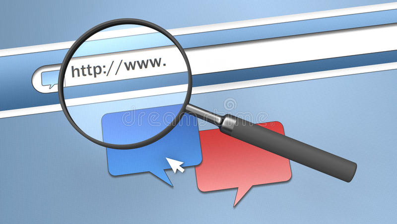 Het adres van Internet royalty-vrije illustratie