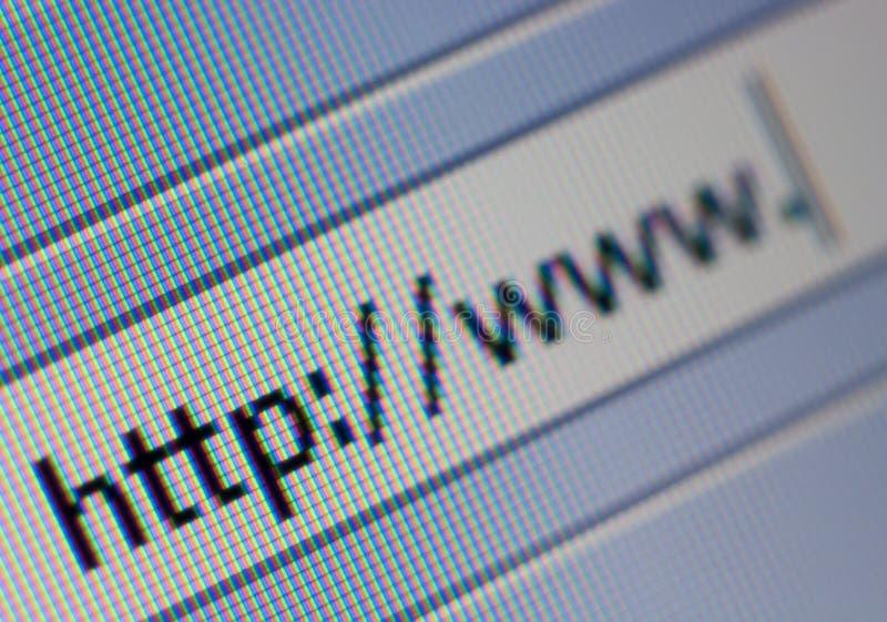 Het Adres van Internet stock foto's