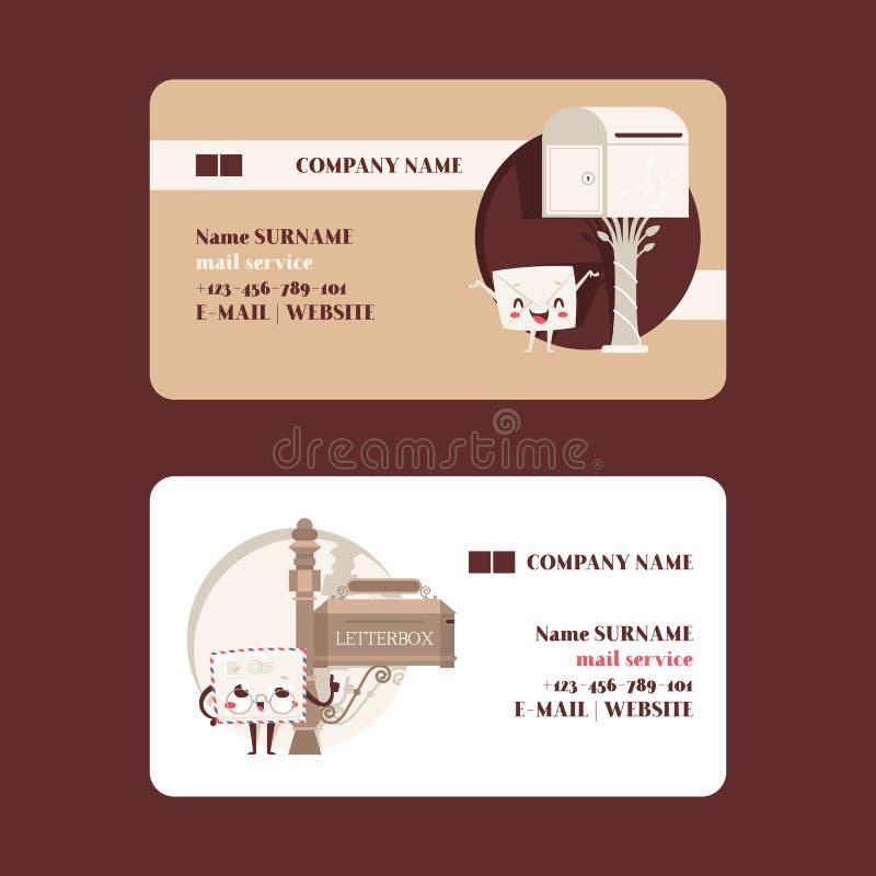 Het adreskaartje postbrievenbus van de brievenbusenvelop vectorpost het vakje van de postbrief illustratie Postboxes geposte leve royalty-vrije illustratie