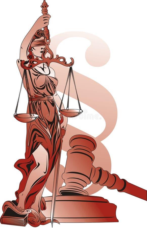 het adreskaartje van de advocaat stock illustratie