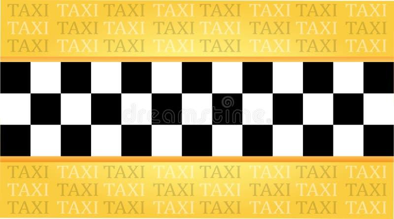 Het adreskaartje van de taxi vector illustratie