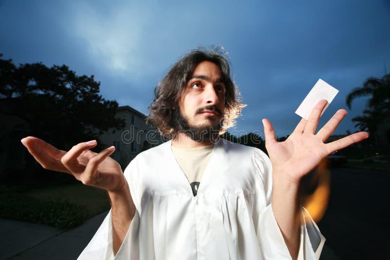Het adreskaartje van Jesus royalty-vrije stock afbeelding